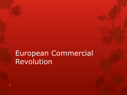 European Commercial Revolution
