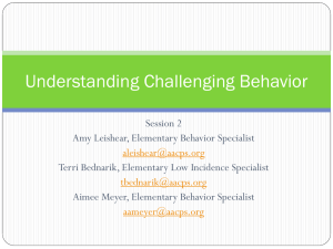 Challenging Behavior Session 2 PPT