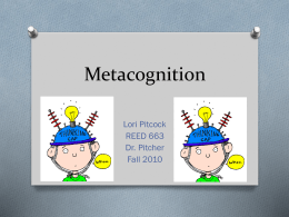 Instructional Project Metacognition
