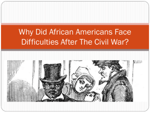 Why did African Americans face difficulties after