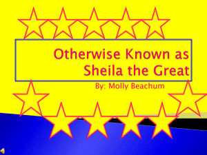 Otherwise Known as Sheila the Great ppt.2