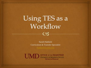 Using TES as a Workflow