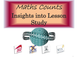 Real-life applications of maths Our Lady`s, Drogheda