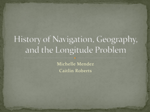 History of Navigation, Geography, and the Longitude Problem