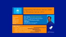 Windows Server 2012 Top Technical Reasons to