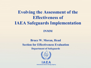 Evolving the Assessment of the Effectiveness of IAEA Safeguards