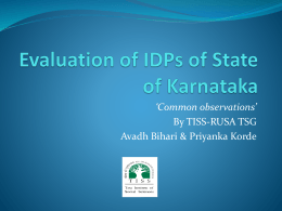 Guidelines for RUSA lDP Evaluation