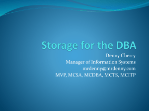 Storage for the DBA