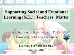 PowerPoint file Social and Emotional Learning