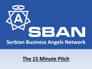 The 15 Minutes Pitch