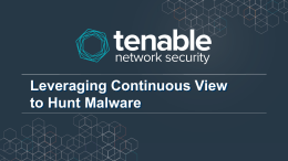 hunting-malware-v4 - Tenable Discussions Forum