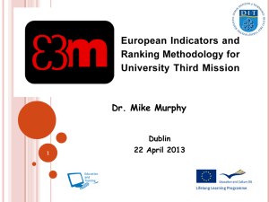 `European Indicators and Ranking Methodology for University Third