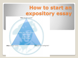 How to start an expository essay