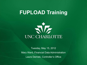 FUPLOAD Training Presentation