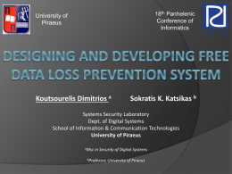 Designing a free data loss prevention system
