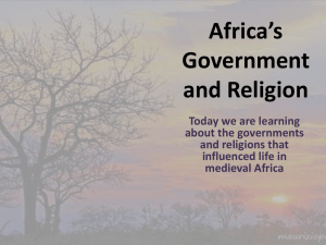 Africa*s Government and Religion