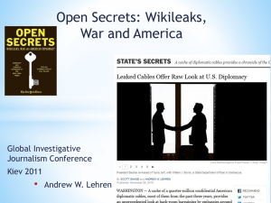 Andy Lehrens presentation on Wikileaks