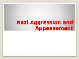 Nazi Aggression and Appeasement - Jeffrey