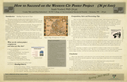Sample Poster - SUNY College of Environmental Science and Forestry