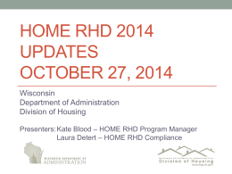 Home 2014 updates - Department of Administration
