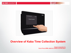 KABA Powerpoint - Business Office