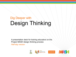 Dig Deeper with Design Thinking – Half