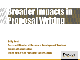 Broader Impacts - Purdue University