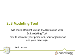 2c8 Modeling Tool
