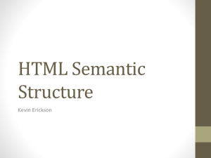HTML Semantic Structure