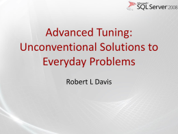 Advanced Tuning PowerPoint Slide Deck