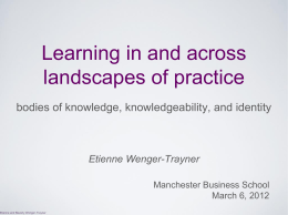 Etienne Wenger-Trayner - Manchester Business School