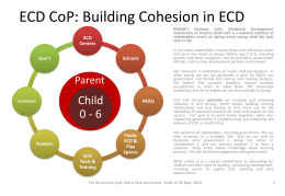 DRAFT ECD CoP Principles of Engagement document