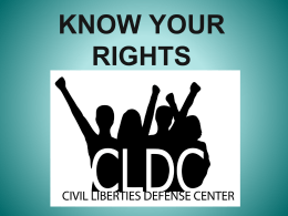 Activist PowerPoint - Civil Liberties Defense Center