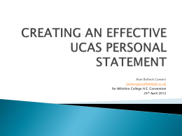 Create a winning Personal Statement