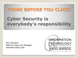 Cyber Security is everybody`s responsibility