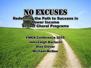 No Excuses - Florida Music Education Associations