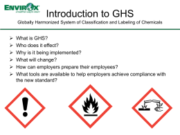 Intro to GHS Presentation