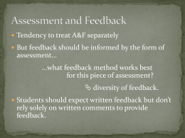 Assessment and Feedback in Geography - Kevin Rees