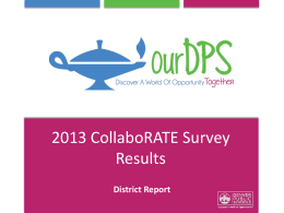 CollaboRATE 2013 District report - Culture Equity and Leadership