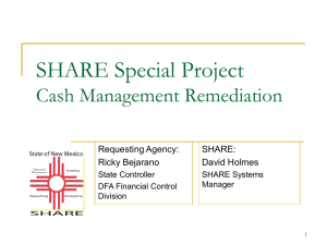 Cash Management Remediation