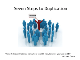 Seven Steps to Duplication with doTERRA!