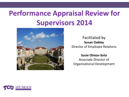 why a performance appraisal_supervisors_2014