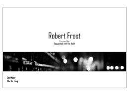 robert frost - dankerrcreations.com