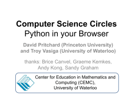 CS Circles: Learning Python in a Browser