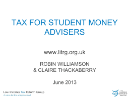 TAX CREDITS - Tax Guide for Students
