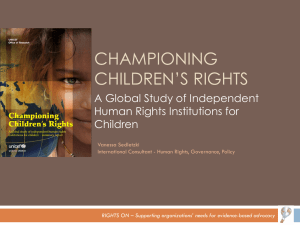 Championing Children`s Rights