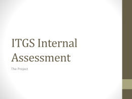 ITGS Internal Assessment201415