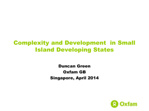 Duncan Green Complexity and SIDS 2014