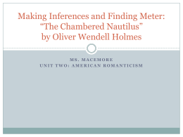 Making Inferences: *The Chambered Nautilus* by Oliver Wendell