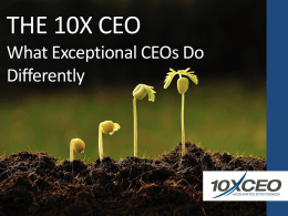The 10X CEO